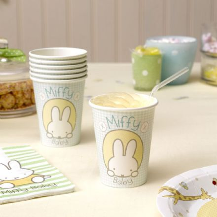 Baby Miffy Paper Cups -  pack of 8